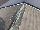 スレート屋根飛散