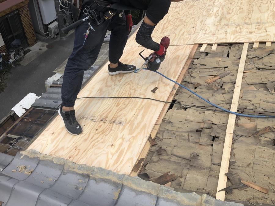 構造用合板12ミリ施工