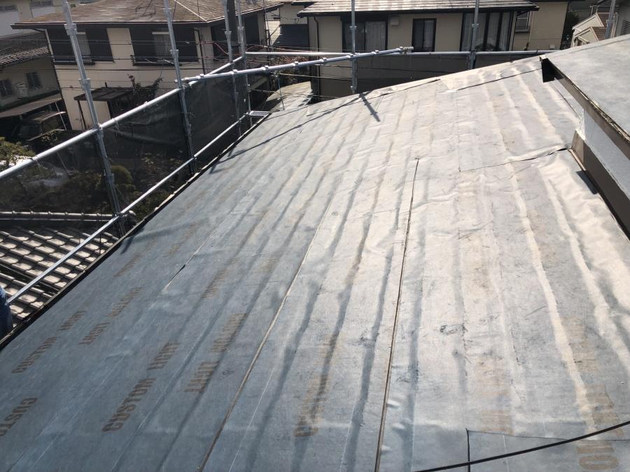 屋根リフォーム片面粘着ルーフィング