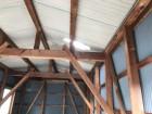金属波板屋根穴あき