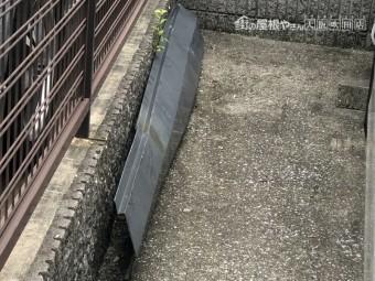 台風で落下した棟板金