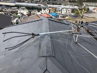台風で倒れたアンテナ