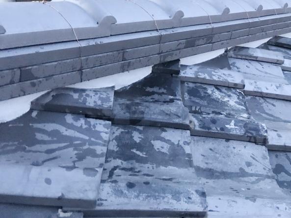 屋根修理後の棟