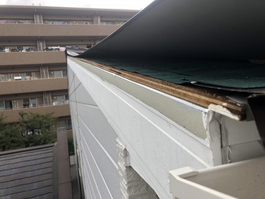 ガルバリウム鋼板屋根飛散