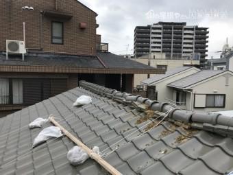 台風による棟の崩れ