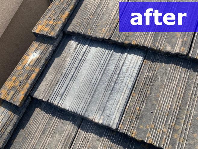 補修後の屋根瓦