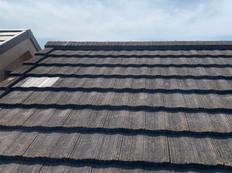 補修後の瓦屋根