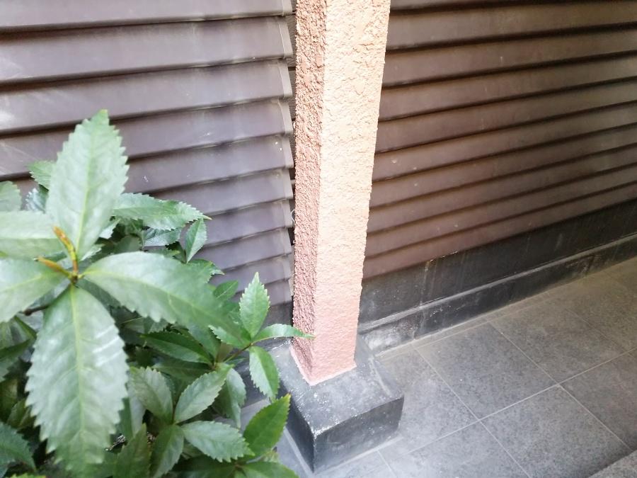 雨漏り修理完了後の外壁・柱
