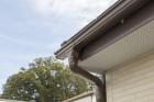 屋根の雨樋下からのアップ
