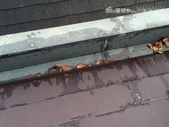 雨漏り調査 下屋根の調査 水切り板金