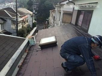 雨漏り調査 下屋根の調査