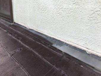 雨漏り調査 下屋根の調査 壁際周り