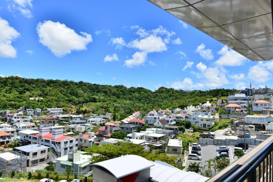 沖縄地方の台風に耐えられる住宅街の町並み