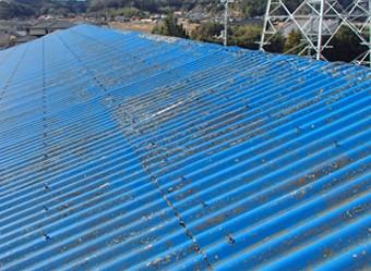 汚れが溜まった屋根